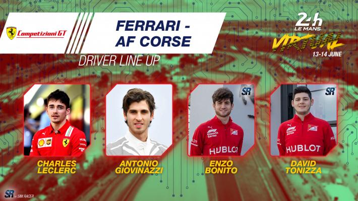 En las 24 Horas de Le Mans 2020 virtuales Leclerc hará equipo con Giovinazzi