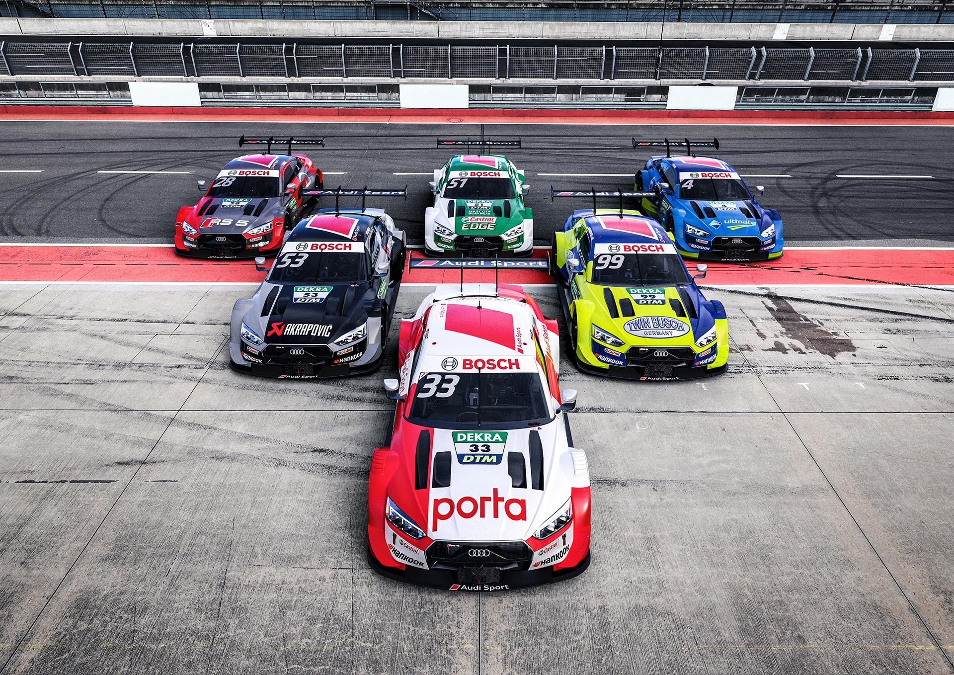 Los Audi R5 DTM están listos para competir en Spa