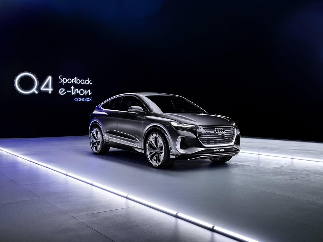El Q4 Sportvback e-tron Concept es un SUV ágil en todos los terrenos