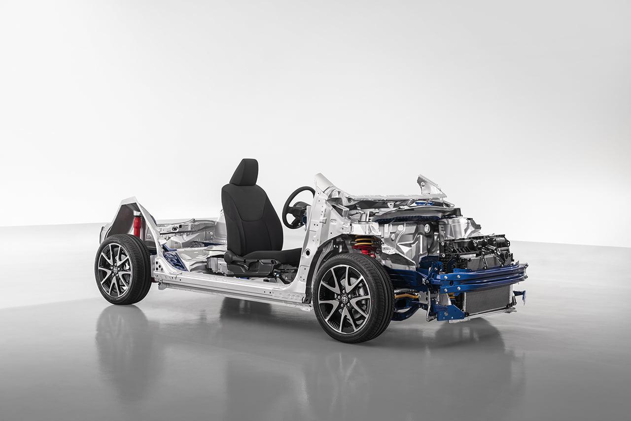 El Yaris Electric utiliza la nueva plataforma GB-A de la marca