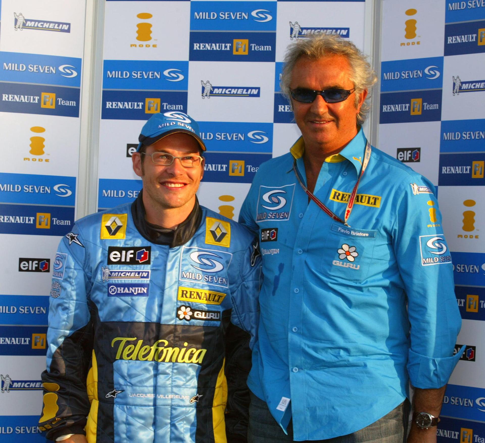 Villeneuve también estuvo en Renault con Briatore y Alonso