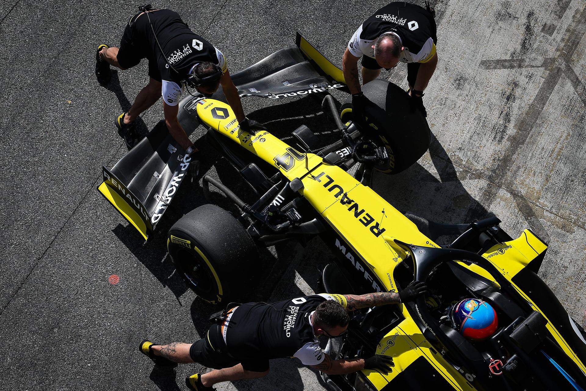 El RS18 será el monoplaza con el que Alonso rodará en los test privados.