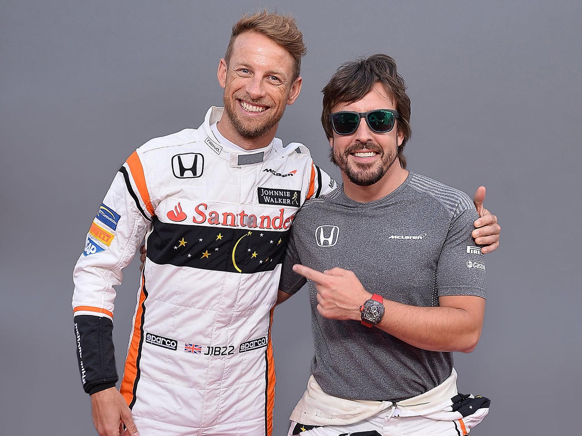 Fernando Alonso y Button han coincidido en dos equipos del Mundial de F1.