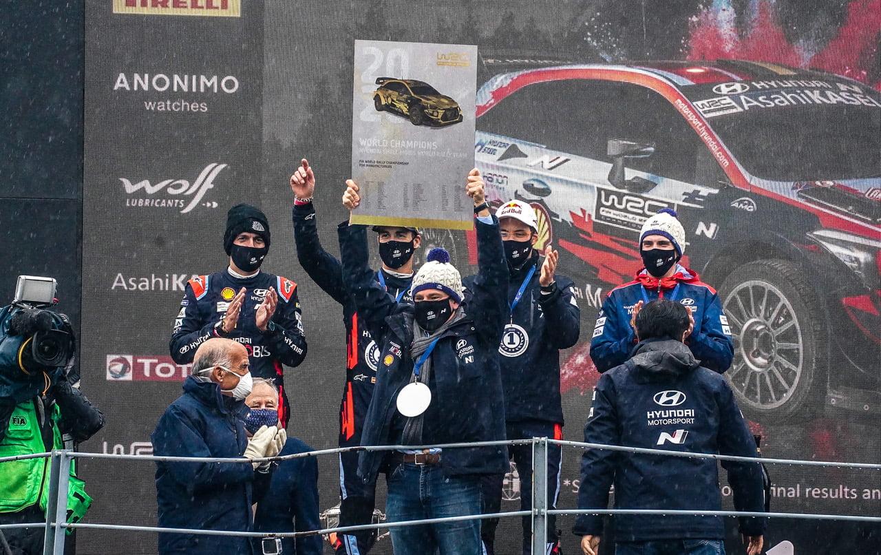 Dani Sordo y Del Barrio han sumado puntos importantes para que Hyundai consiguiera el título.