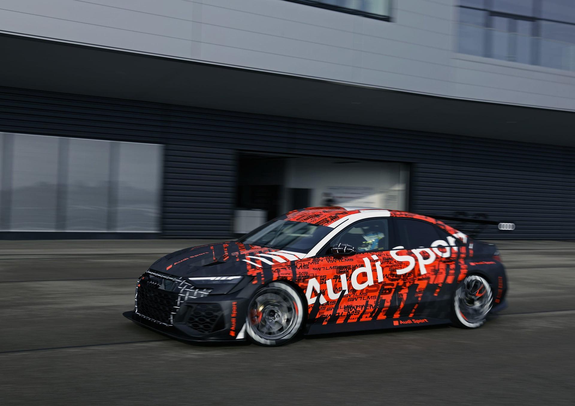 El Audi RS 3 LMS 2021 está listo para competir