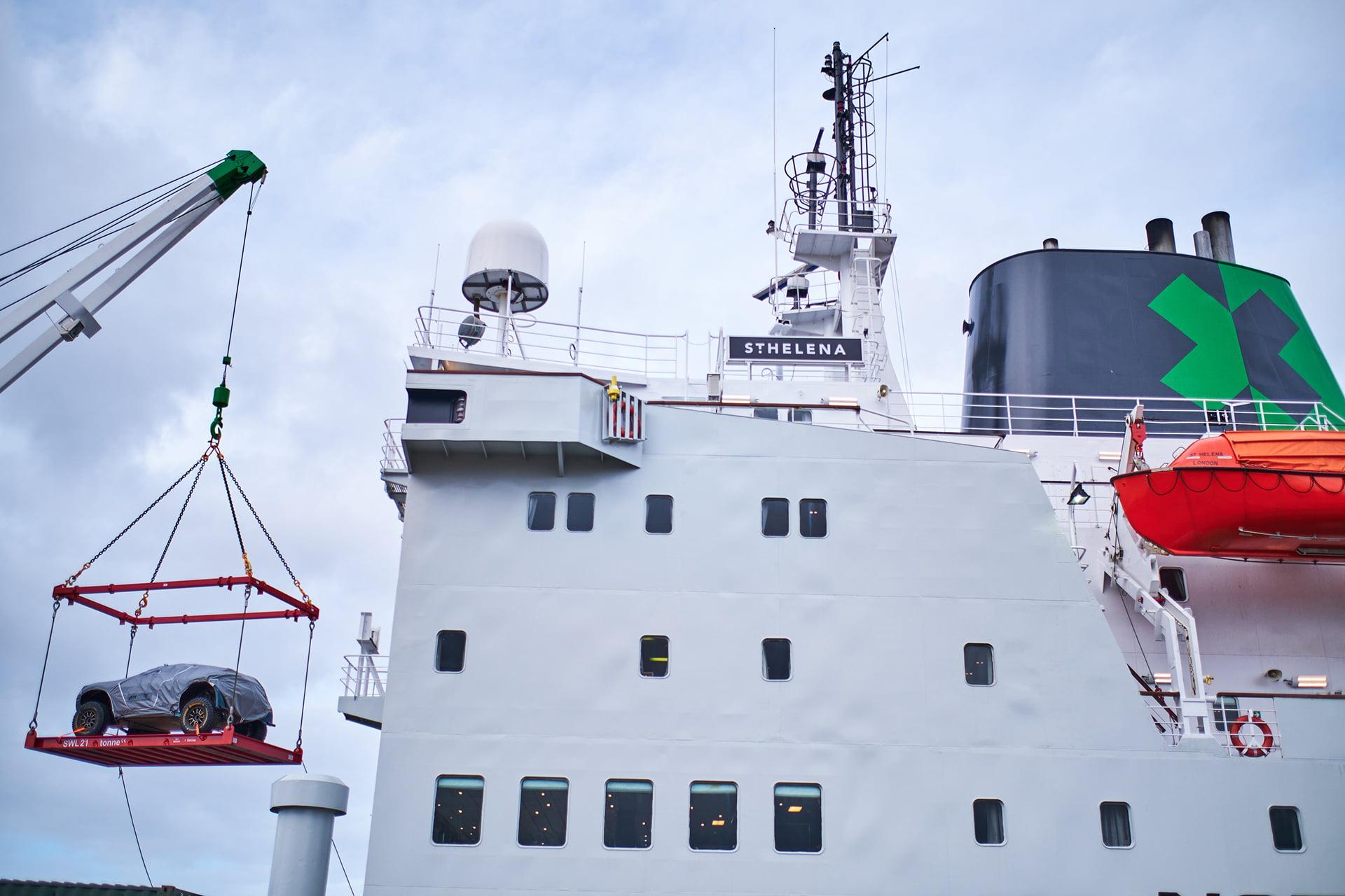 El St. Helena ha partido desde el puerto de Liverpool.