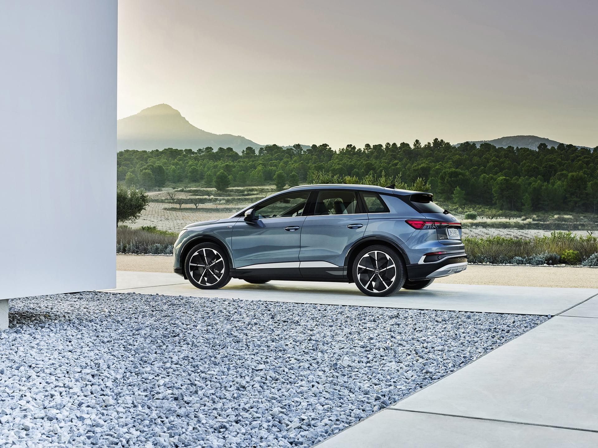 El Audi Q4 e-tron tiene una amplia autonomía de recorrido.