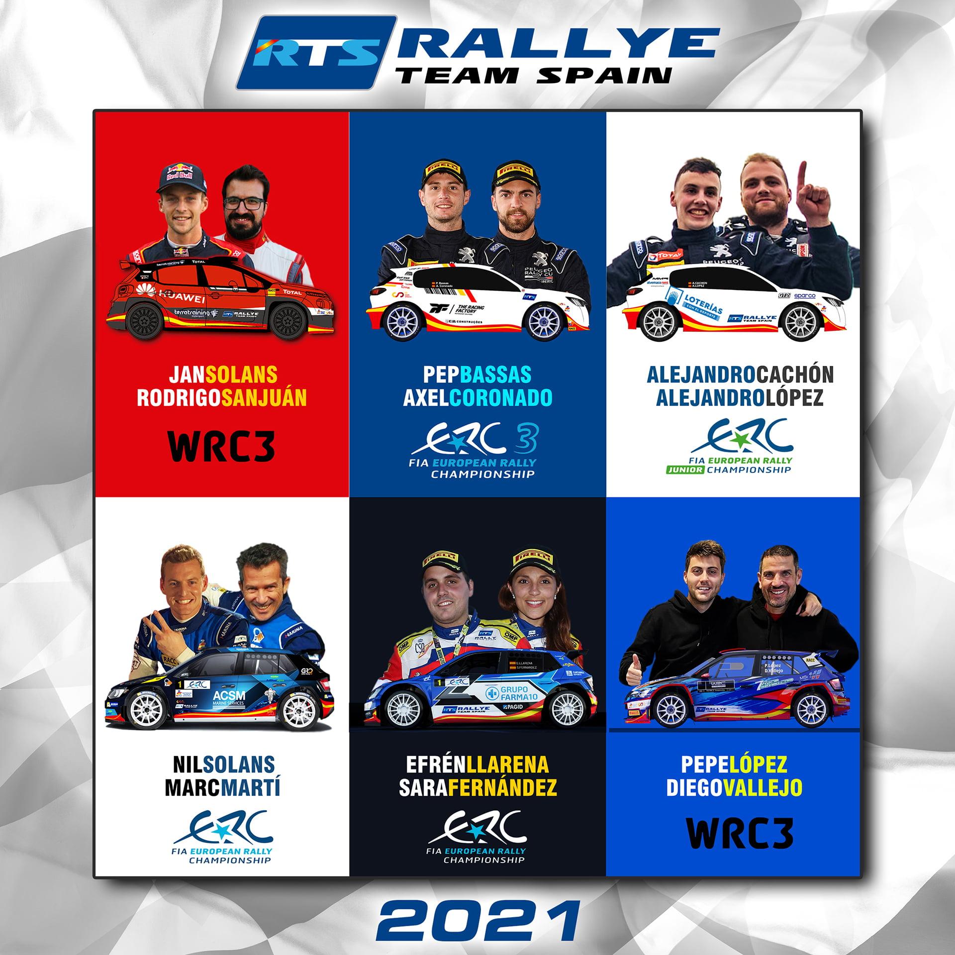 Rallye Team Spain, 6 equipos con mucho potencial.