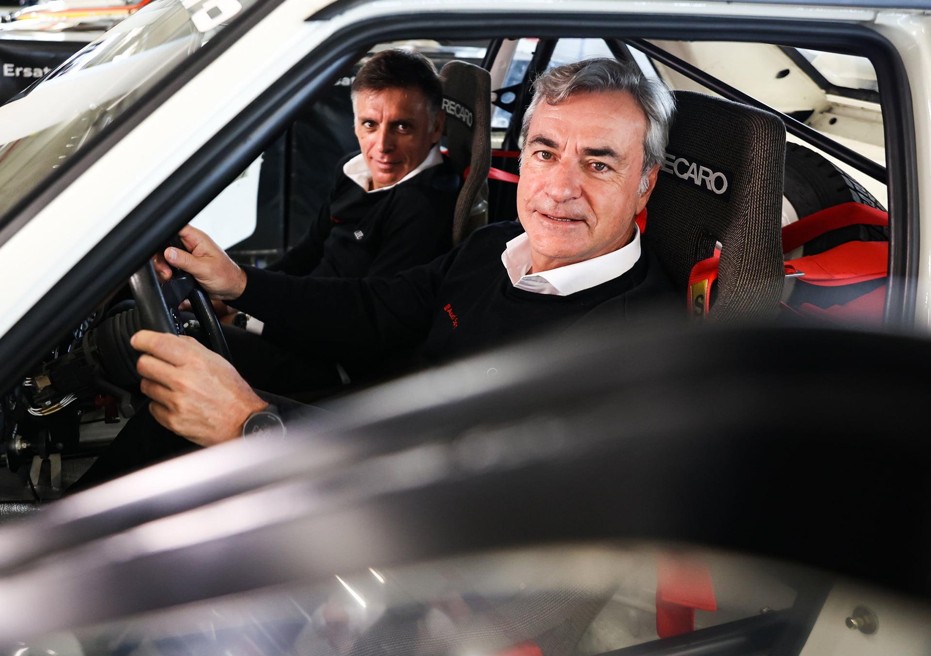 Carlos Sainz y Lucas Cruz , listos para un nuevo reto con Audi Sport.