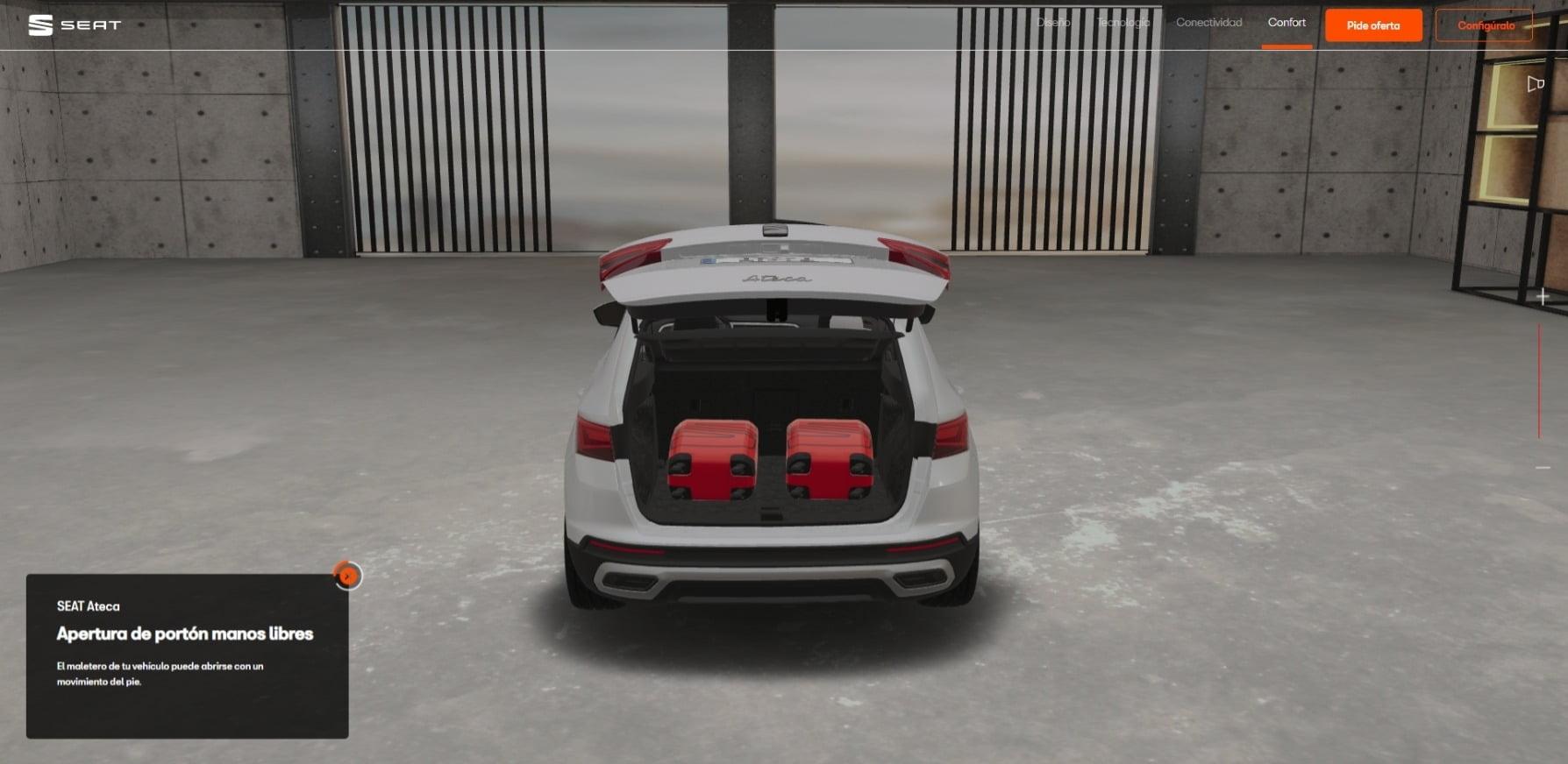 El nuevo SEAT Virtual Experience permite configurar el modelo deseado.