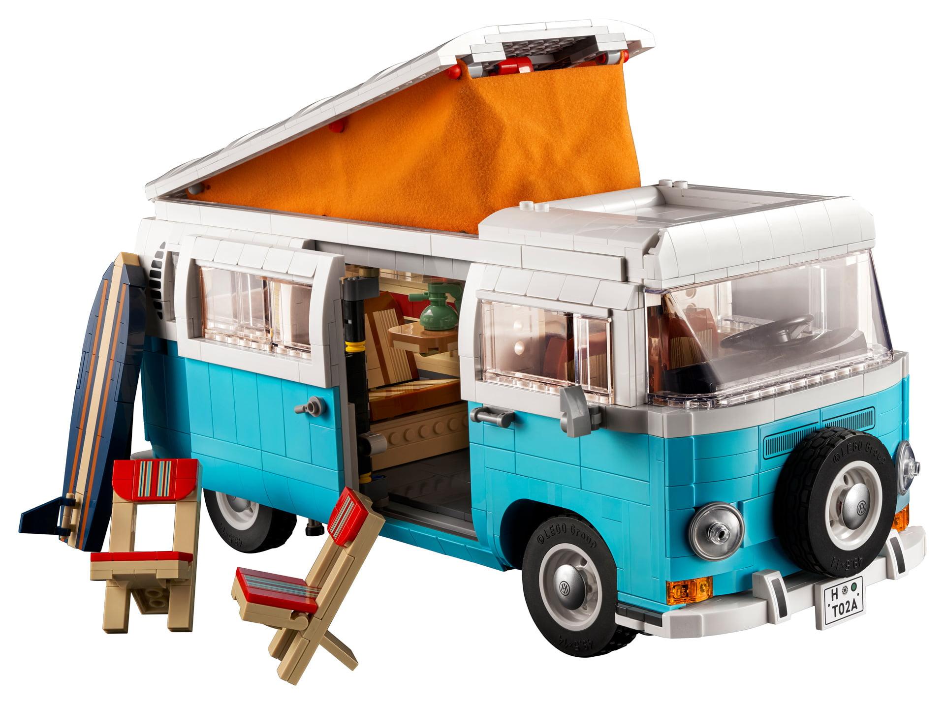 La nueva caravana LEGO Volkswagen T2 se basa en su homónima de finales de los años 60 y 70