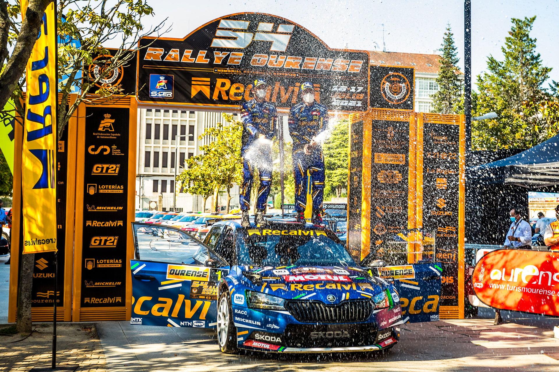 El Rallye Ourense ha tenido a Cohete Suárez como claro ganador