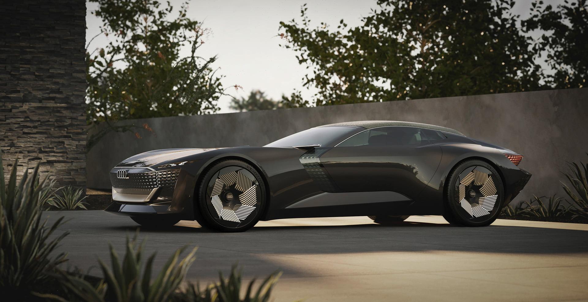 Audi skysphere concept es el nombre del convertible biplaza con propulsión eléctrica cuyas líneas conducen al diseño de los Audi del mañana más inmediato.