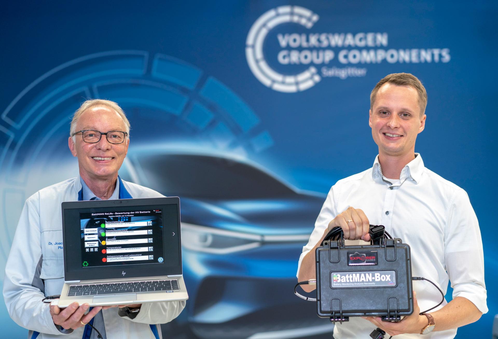BattMAN ReLife es el nombre del nuevo sistema de evaluación del estado de las baterías de los coches eléctricos desarrollado por Audi Bruselas y Volkswagen Group Components.